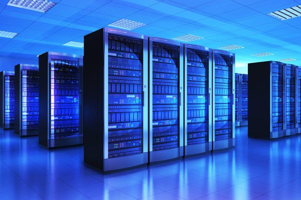 データセンターのサーバールーム
