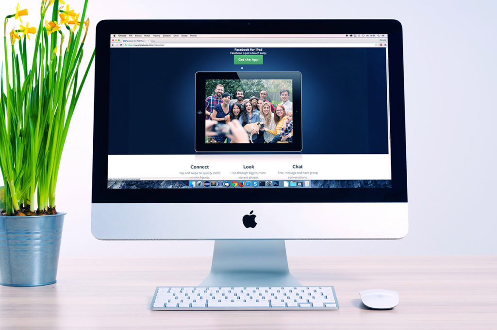 Webページが表示されたイメージ