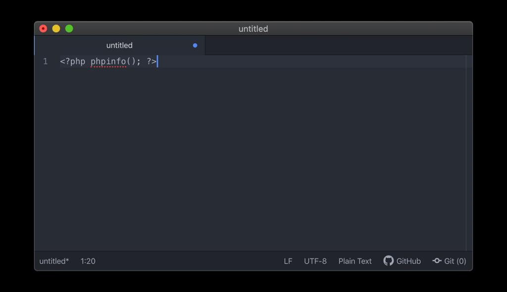 PHPプログラムを入力したエディタ