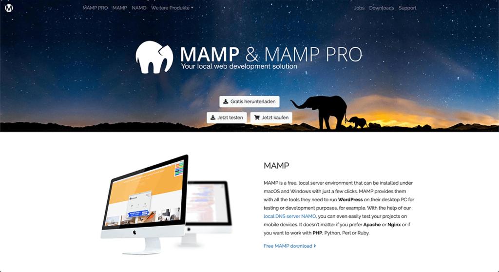 MAMP (マンプ) のWebサイト